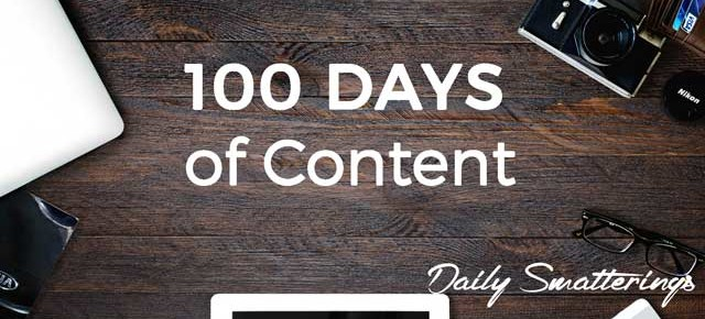 100 Days of Content