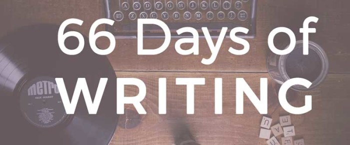 66 Days of Writing